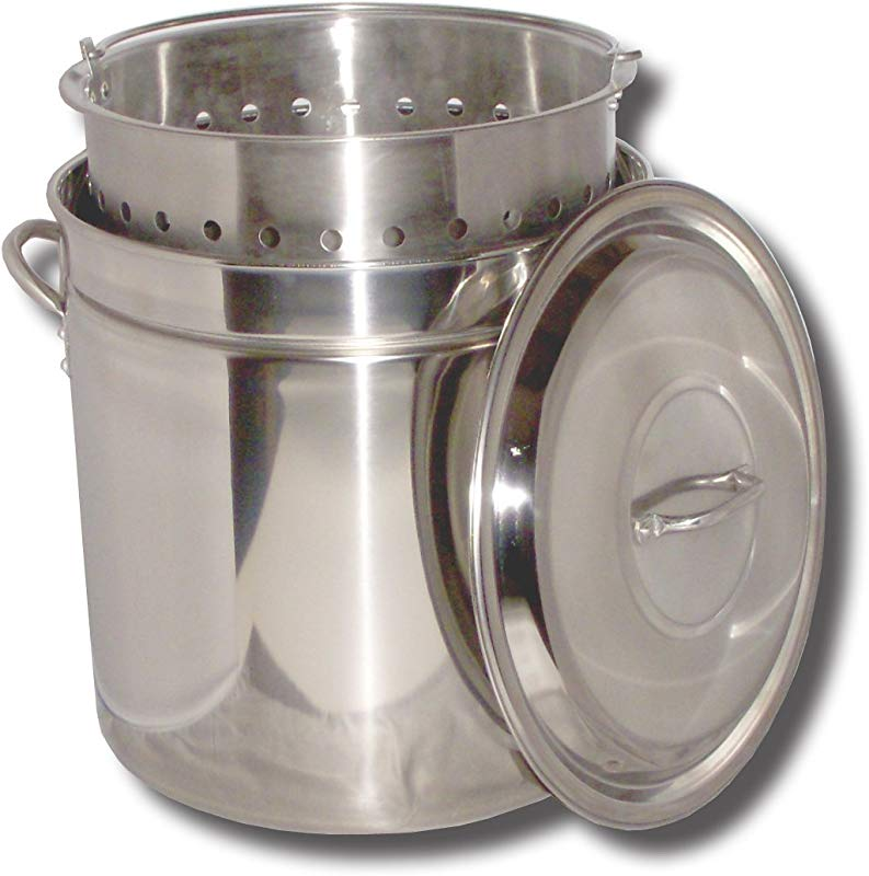 King Kooker KK82SR Ridged Stainless Steel Pot 82 Quart
