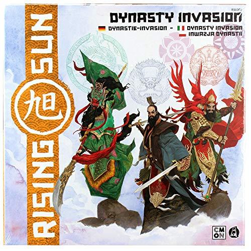 Asmodee Rising Sun - Dynastie-Invasion, Erweiterung, Kennerspiel, Strategiespiel, Deutsch