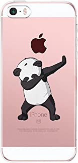 AIsoar iPhone SE Case, iPhone 5 Case, iPhone 5S Case Ultra Thin and Slim Clear Soft TPU Bumper Back Anti-Scratch Protective Flamingos Cover for iPhone 5 5S SE (Panda)