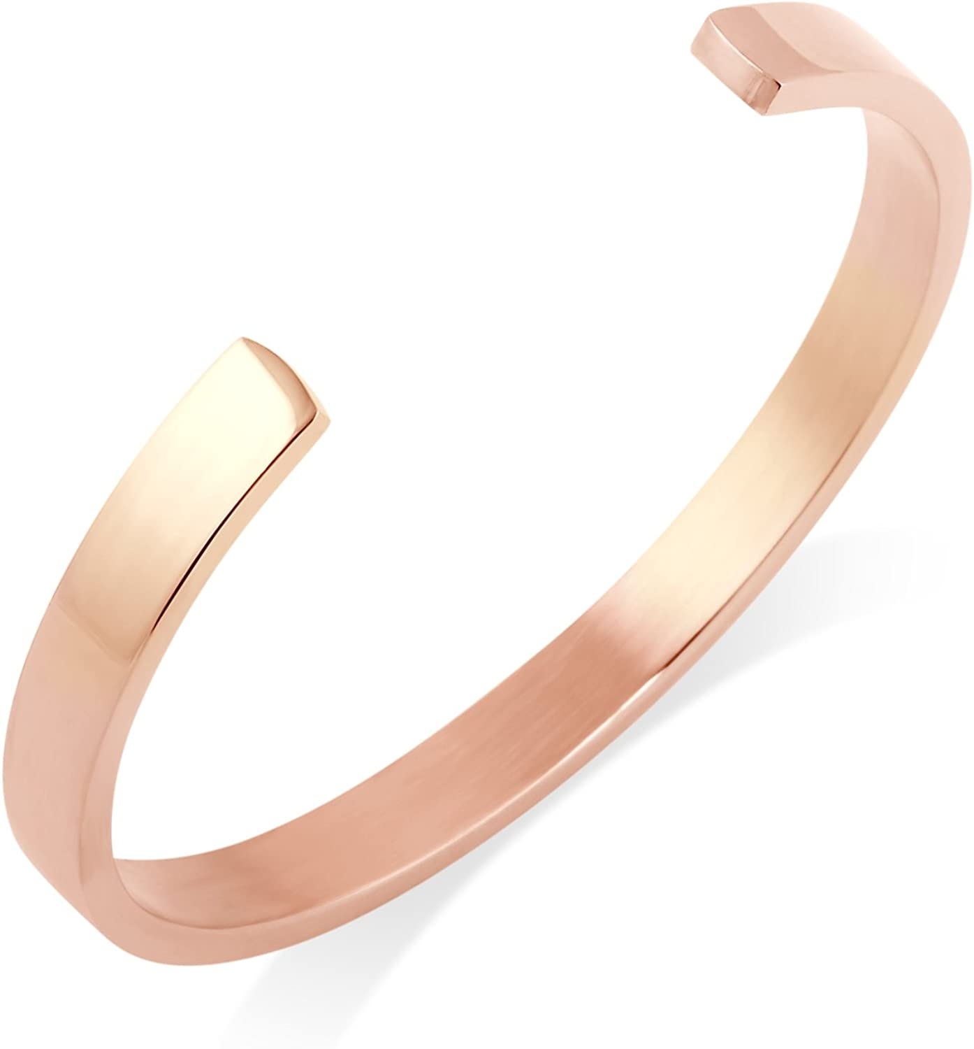 Toi&Moi C Cuff Bangle Bracelet in Surgical Stainless Steel
