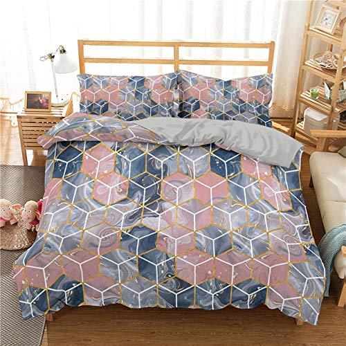 Geométrica Irregular Impreso del Lecho De Mármol Duvet Cover Set Ropa De Cama Cobertera Rey Queen Cubierta del Edredón Las Colchas (Color : 6, Size : EU Double 210x210cm)