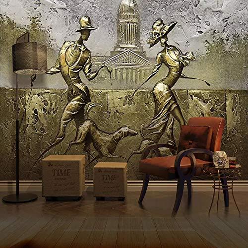 LOVEJJ Foto Mural Escultura de bronce Mural Gigante - Póster de Naturaleza Tapíz Clásico - Salón Dormitorio Despacho Pasillo Decoración murales decoración de paredes moderna - 350cmx245cm