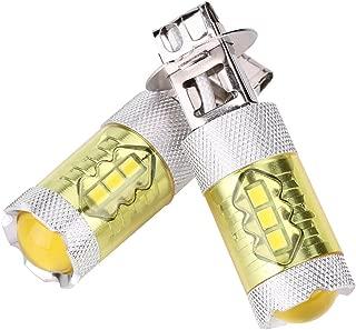 Qiilu زوج واحد 12-24 فولت 80 وات H3 16SMD LED صفراء لمبة ضوء الضباب للسيارة
