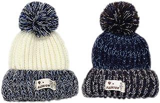 WENTS Winter Baby Hats Hood Gorros con Pompon Cute Hat Gorros de Punto Bebe de Felpa Diadema Elástica Sombreros de Punto G...