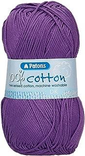 Patons 100% cotton dk - purple (2743)