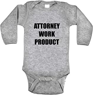 Cute Rascals Attorney Work Product Style 2 Long Sleeve Baby Bodysuit One Piece Oxford Grey 6 Months