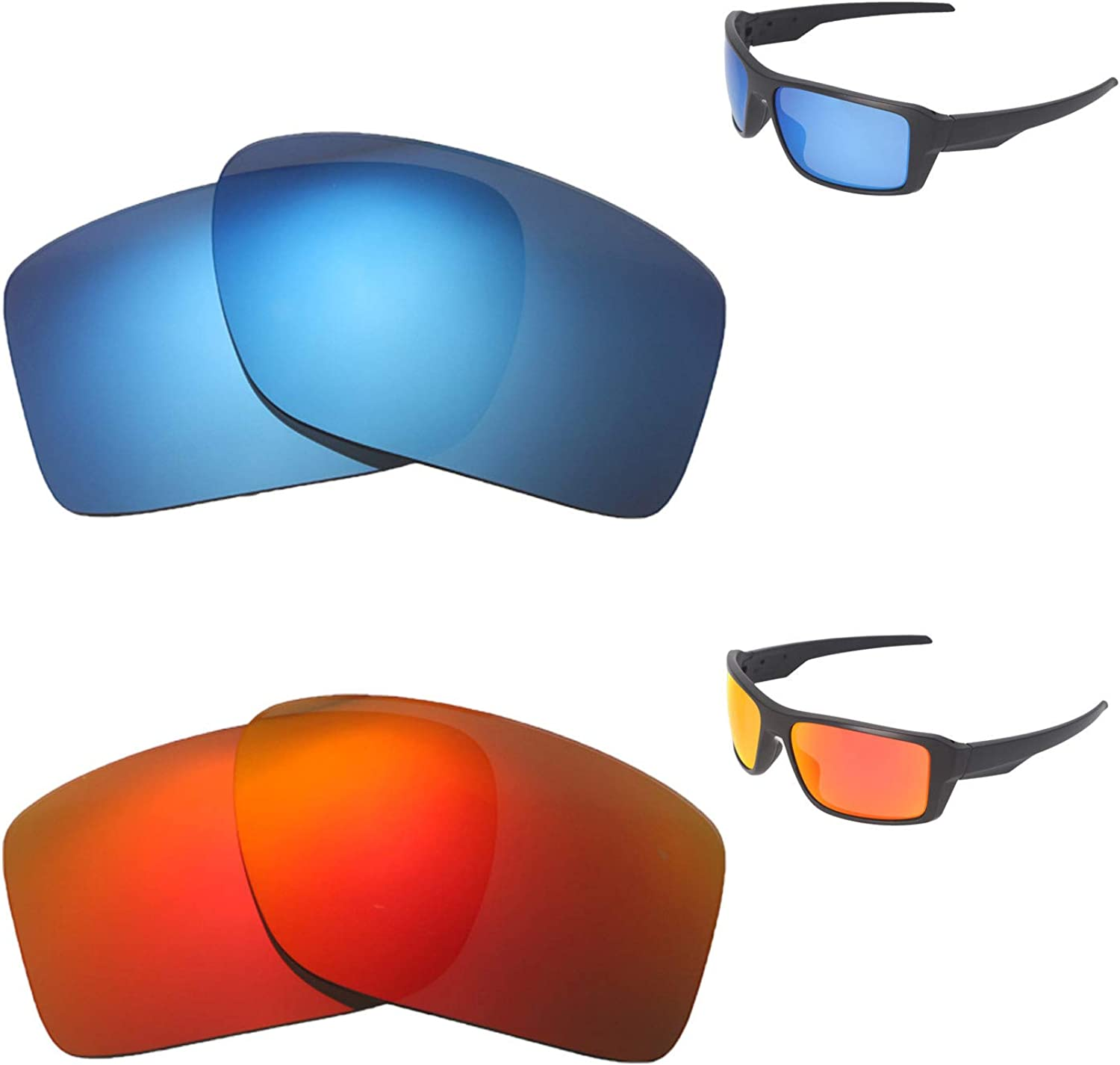 Memphis Mall Walleva Polarized Fire Red + Ice Oak For Replacement New popularity Blue Lenses