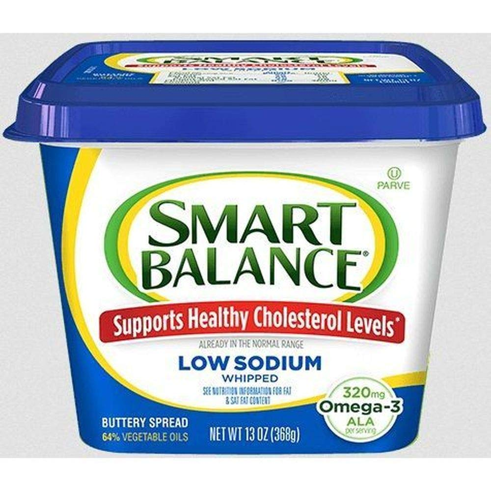 Smart Balance Low Salt Butter Spread 13 Ounce Limited time trial price 6 case Popular brand in the world Tub per --