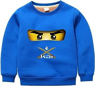 GD-SportBX Girls Boys Ninjago Thickened Cotton Sweatshirt Toddler Kids Pullover Tops