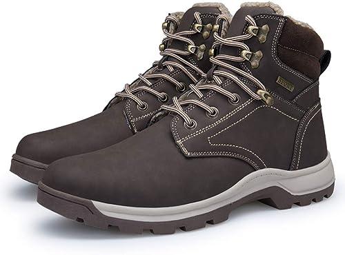 GDXH Nuevos Zapaños,Zapaños de Senderismo para Hombre Calzaño de Seguridad Zapaños de Deporte Impermeable Zapaños de Alta Subida botas de Senderismo para el otoño y el Invierno