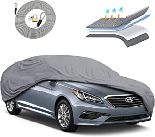 Motor Trend OC444 4 Layer Series Outdoor Car Cover Custom Fit for Hyundai Sonata 2011-2018 All Weather Protect Waterproof
