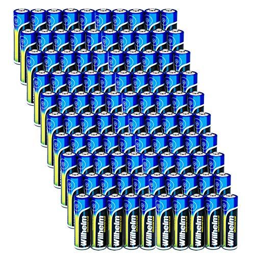 Wilhelm 100 AA Mignon Universal Alkaline Batterien im Shrink LR6…