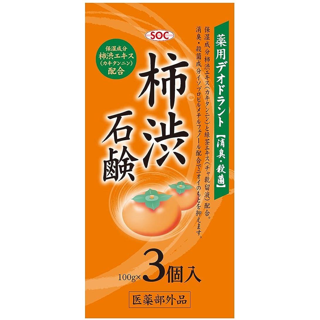 ステレオ急性ワックスSOC 薬用柿渋石鹸 3P (100g×3)