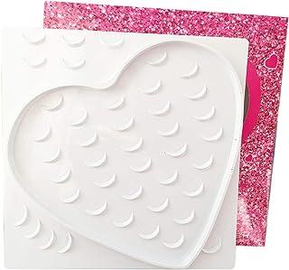 Lurrose Coração Bandeja de Cílios Cílios Cílios Postiços Caixa De Armazenamento De Plástico Vazio Caso Caixa De Embalagem ...