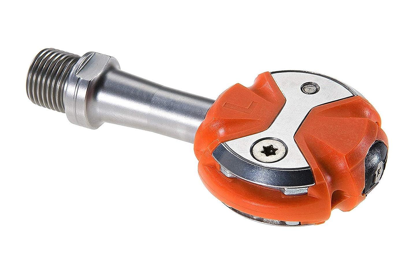 逃げる関係比較的SPEEDPLAY(スピードプレイ) ZERO(ゼロ) ステンレスシャフトペダル 限定オレンジカラー ウォーカブルクリートセット 0950-01-61190