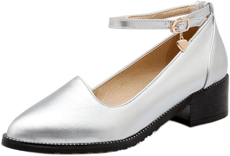 TAOFFEN Women's Fashion Block Heel Court shoes