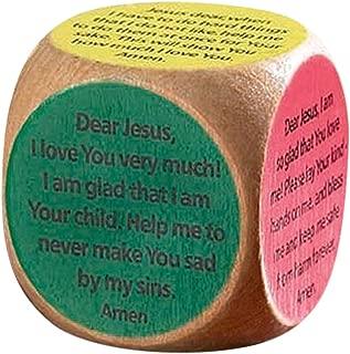 Prayer Cubes Wooden Children's with 6 Prayers, 1 5/8 Inch