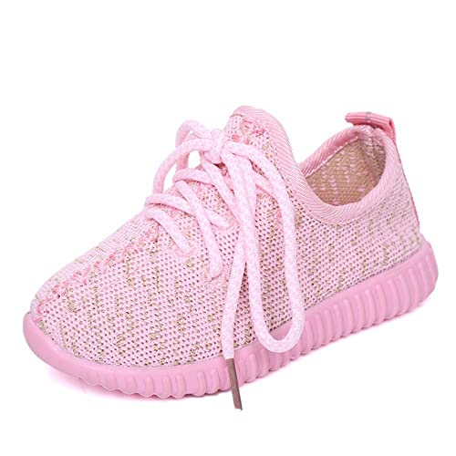 CAIKO Baby Boy Girls Breathable Kint Lace-up Running Shoes 5d99dd910