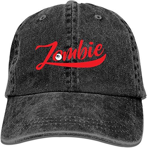 asdew987 Black Baseball Cap-Zombie Trucker Hat Washed Cotton Vintage Adjustable Dad Hat