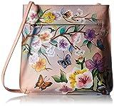 Anuschka Damen Zip-Top Multi-Compartment Organizer Umhängetasche, Handtasche, Japanischer Garten, Einheitsgröße