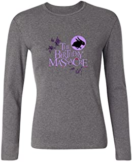 XIULUAN Women's The Birthday Massacre Band Synth Rock Logo Long Sleeve T-Shirt