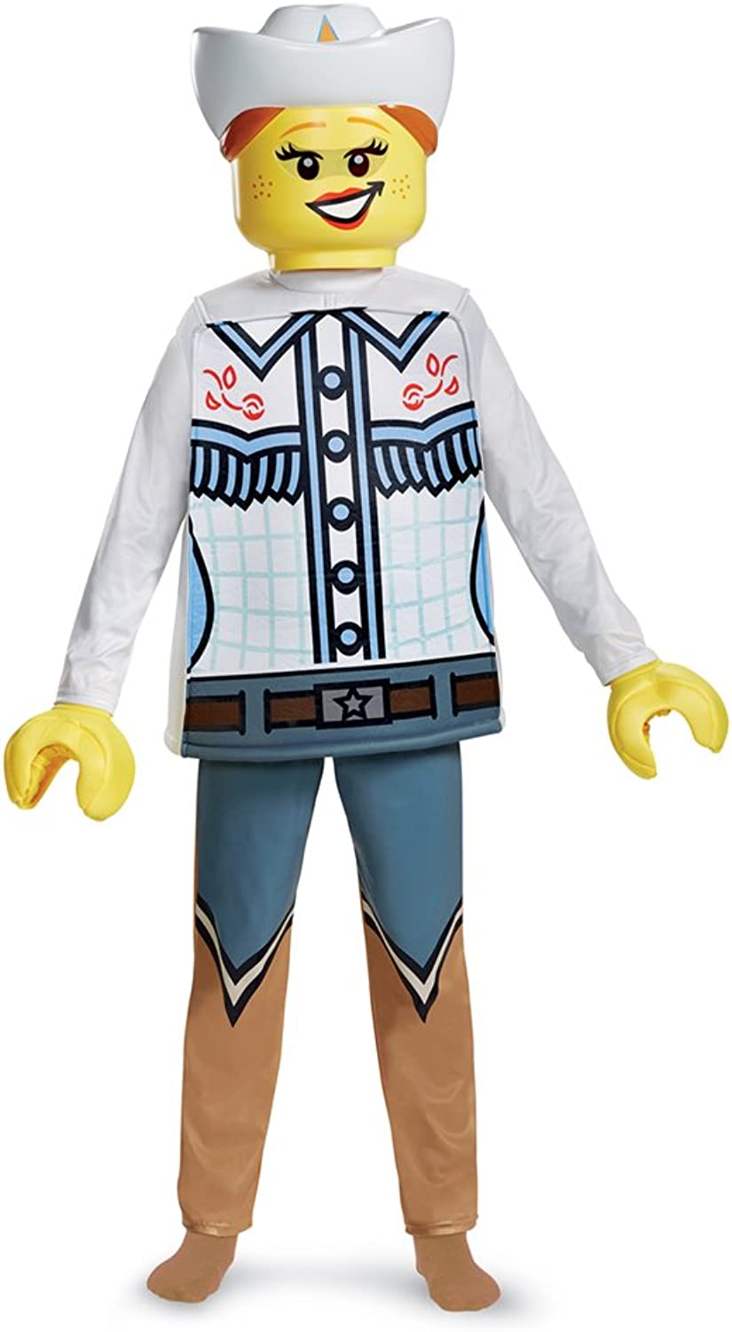 Disguise 18243K Lego Cowgirl Deluxe Costume, Multicolor, M
