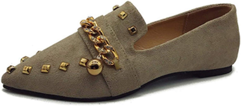 Ting room Women Flats Cool golden Rivet Flat shoes Women Loafers Ballet Flats