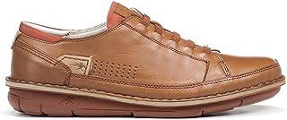 Fluchos | Zapato de Hombre | Alfa F0789 Habana Cuero C.1 | Zapato de Piel | Cierre con Elásticos | Piso de Goma