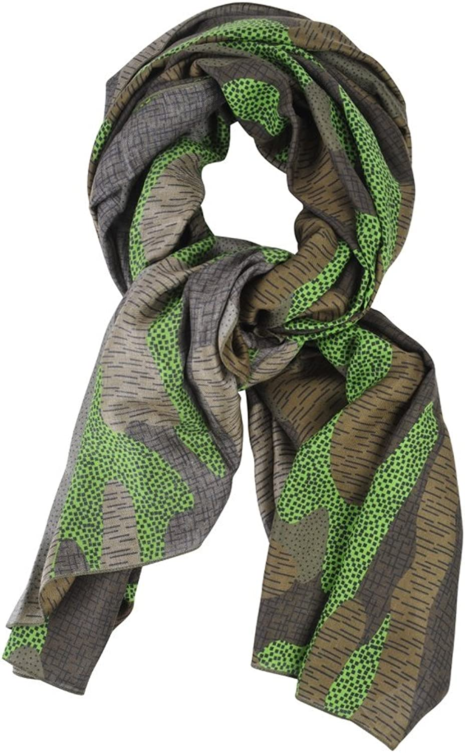 Furla Scarf Women's Green Brown Geometric pattern Modal 140 cm x 140 cm