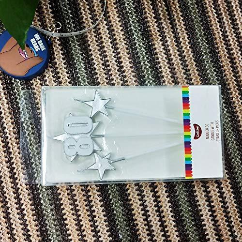 sdtdia Velas coloreadas Velas Velas de Fiesta Velas (Estrella Plateada)