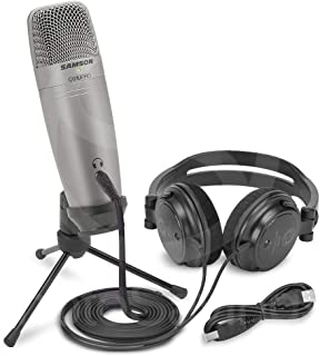 Samson C01U Pro Recording Pack with USB Studio Microphone, Headphones, and Software