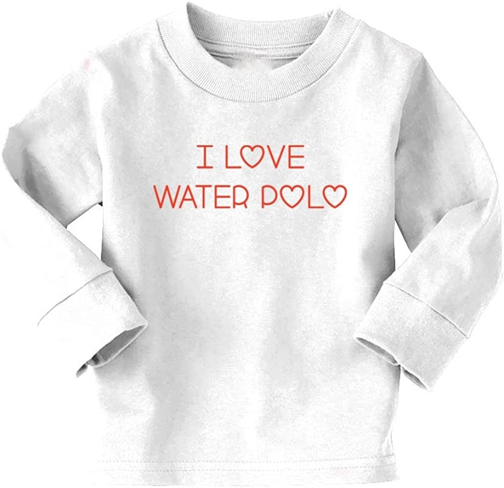 Mashed Clothing I Love Water Polo Toddler Long Sleeve T-Shirt