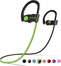LETSCOM Bluetooth Headphones IPX7 Waterproof, Wireless...