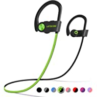 LETSCOM Bluetooth Headphones IPX7 Waterproof, Wireless Sport Earphones, HiFi Bass Stereo...