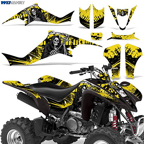 Suzuki LTZ400 2003-2008 Graphic Kit ATV Quad Decals Sticker Wrap LTZ 400 REAPER YELLOW