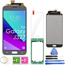 for Samsung Galaxy J3 Screen Replacement LCD Display Touch Digitizer Assembly (Gray) J3 2017 Prime SM J327 J327R4 J327T J327T1 Amp Prime 2 J327AZ Emerge J327A Luna Pro with Repair Tools & Protector