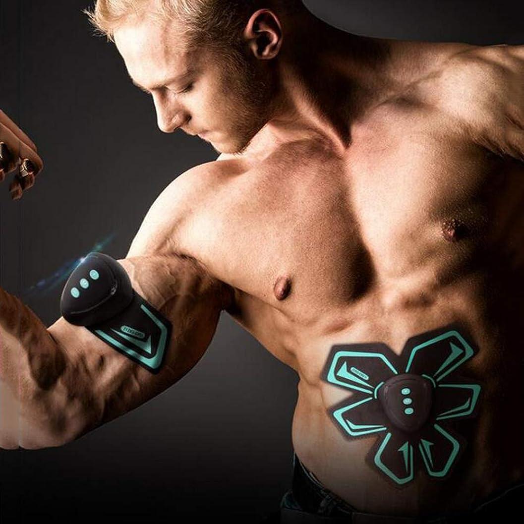 シーズン発明するどうやってUSB電気腹部トレーナーウエスト減量器具EMS筋肉刺激装置ポータブルスポーツ腹部筋肉フィットネス機器ユニセックス