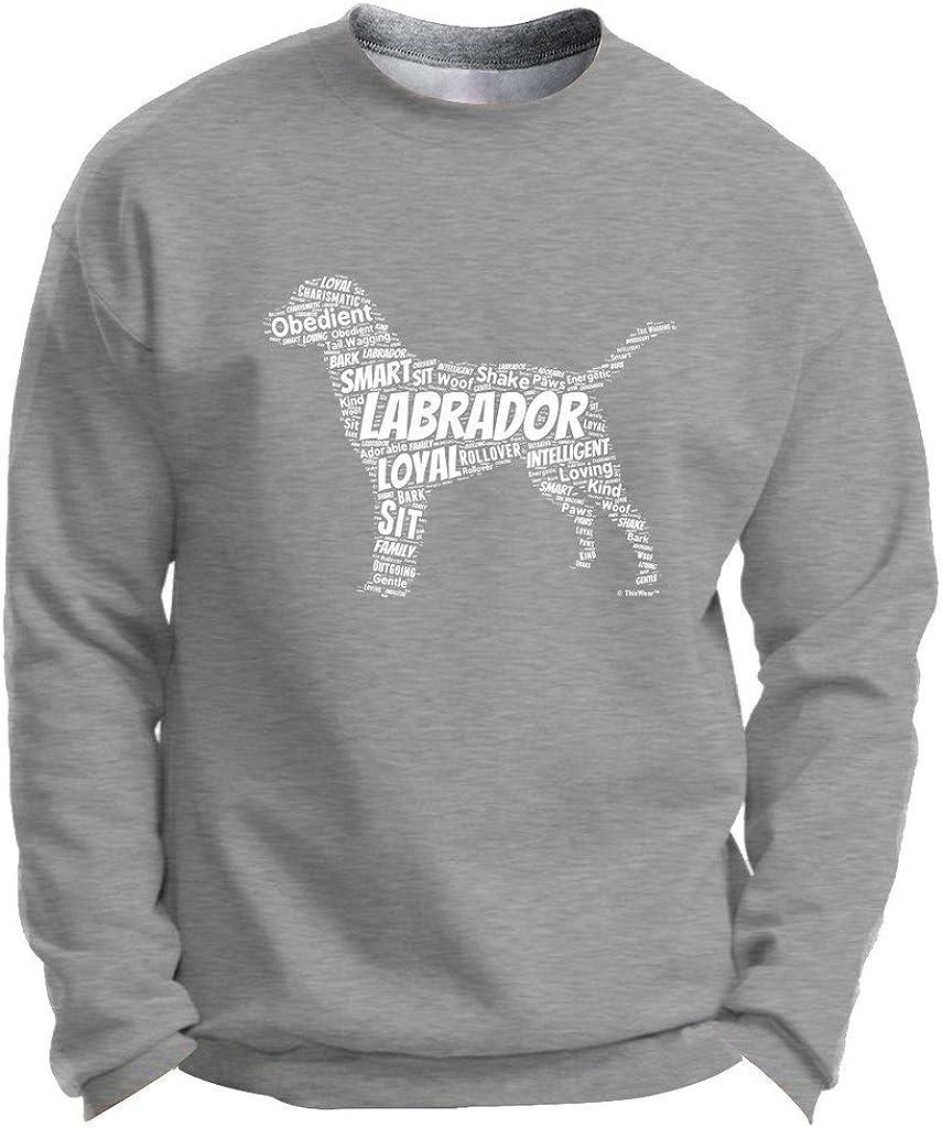 Labrador Retriever Word Art Dog Puppy Owner Gift Premium Crewnec