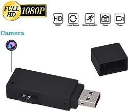 KEQI Hidden Camera 1080P Mini U-Disk Portable HD DVR USB Flash Drive Pinhole Camera Video Recorder (+32GB Memory Card)