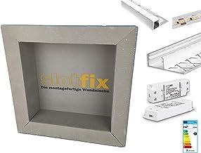 Complete set Slotfix wandnis + LED-verlichting met aluminium profiel & transformator (1x Slotfix 30x30x10 + 1x LED-verlich...