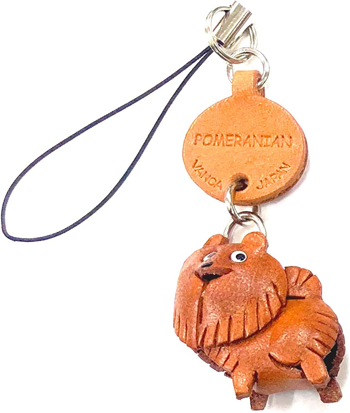Pomeranian Leather Dog mobile CRAFT-Collec store Cellphone Charm VANCA 2021 spring and summer new