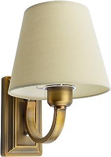 Sponsored Ad – GLW Minimalist Bedside Light,Arm Wall Lamp,E14 Socket Wall Sonce Fixture,Cloth Shade Brass Plating,Decorati...