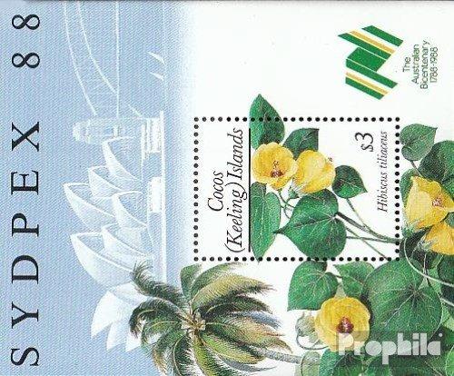 Kokos-Wyspy Blok 7 (pe?ne.Kwestia.) 1988 Ro?liny (Znaczki dla kolekcjonerów) rosliny / grzyby