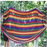CGZZ Hamaca para Acampar De para Jardín, Individual o Doble Acampar Exteriores para Patio Camping Senderismo Mochilero Playa 200cm*150cm,Red