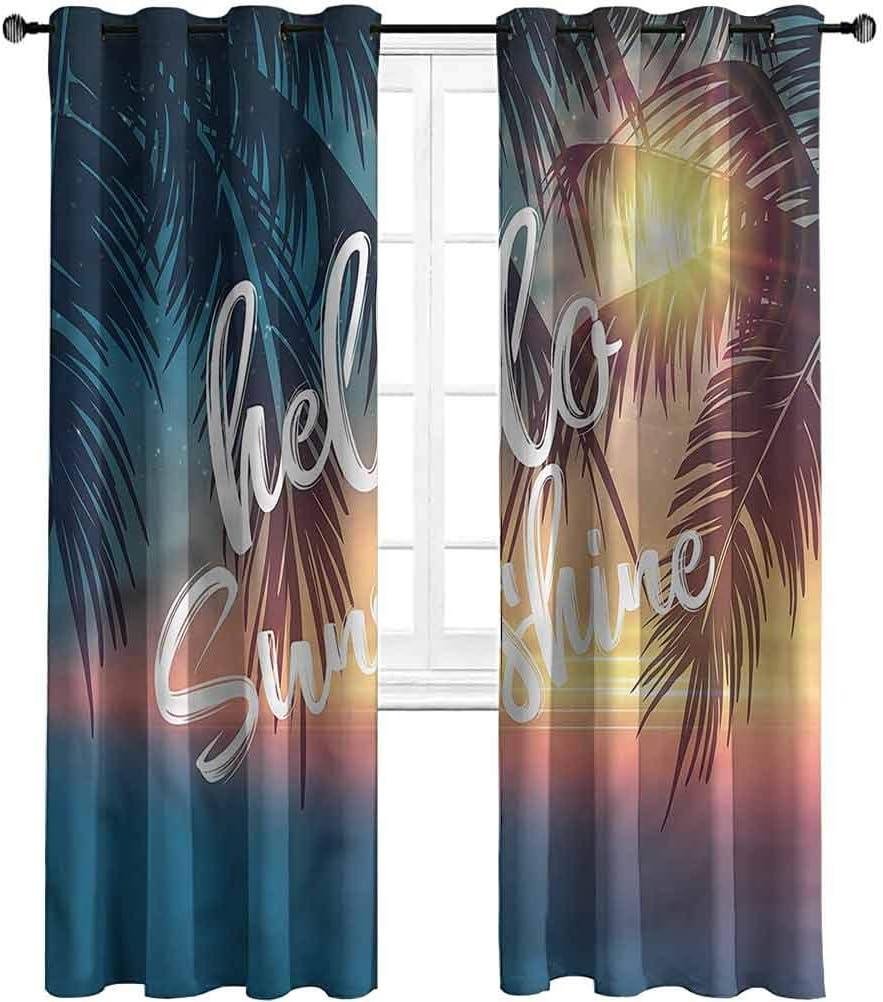 Jacksonville Mall Jinguizi Small Grommet Window Curtain Hello Popular products Sunshine Pa Tropical