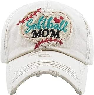 KBETHOS Hats Women's Softball Mom Distressed Vintage Baseball Hat Cap