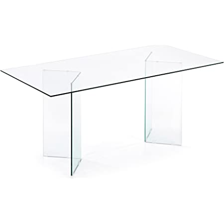 LF - Table de salle à manger Burano 180 x 90 verre transparent