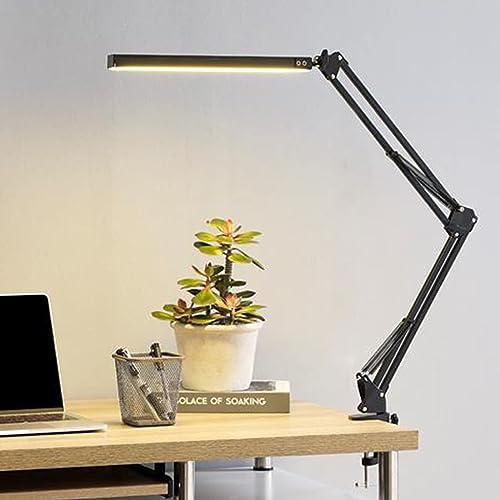Lámpara de escritorio LED, lámpara de escritorio de fácil mantenimiento, lámpara de oficina regulable con conexión de...