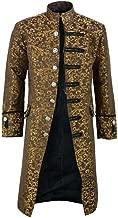 Men's Blazer Slim Fit Casual Bohe Printed Steampunk Tailcoat Jacket Gothic Frock Uniform Light Buttons Suit Jacket Coats