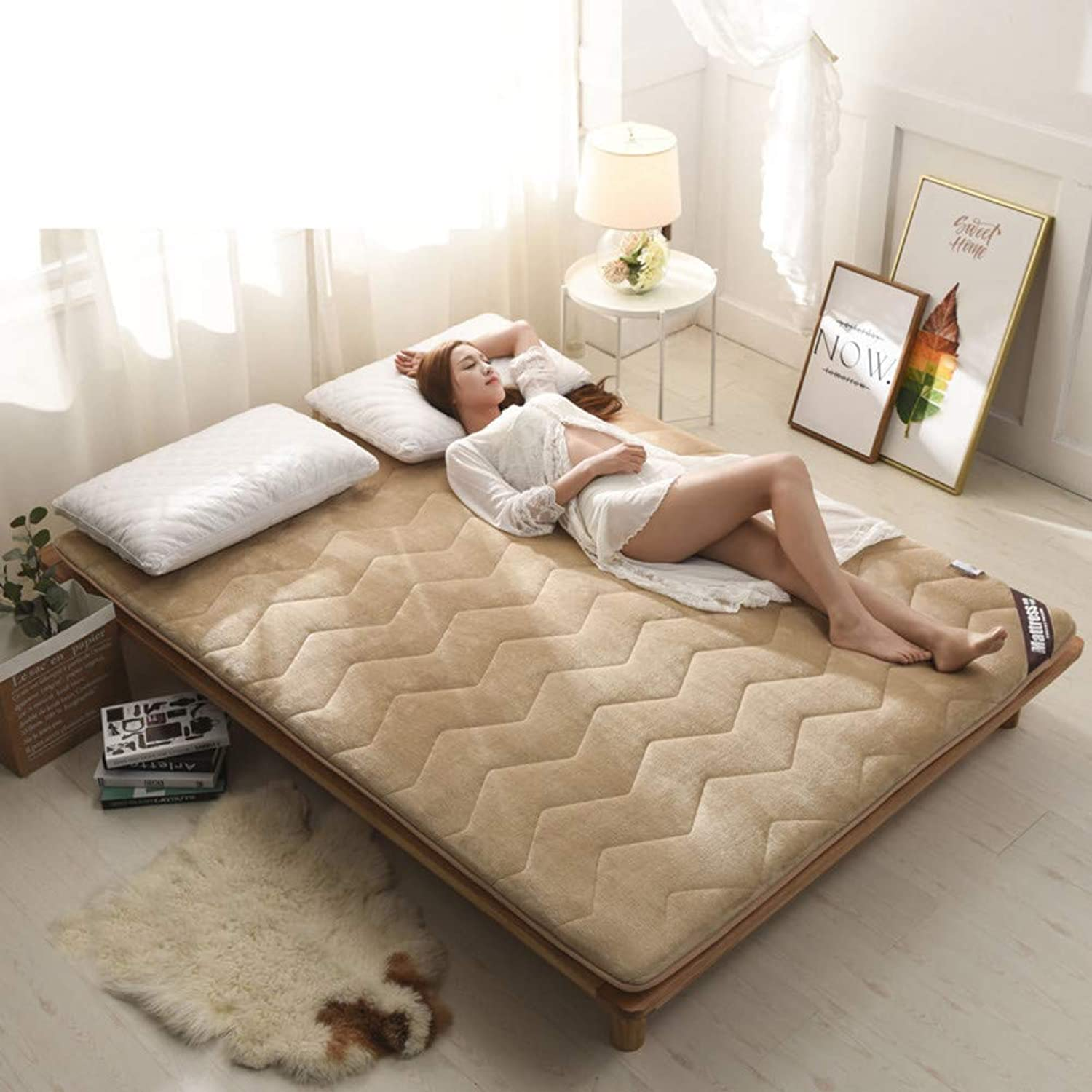 Thickened Mattress,Tatami Floor mat Keep Warm Non-Slip Mattress pad Cover Twin Full Queen King-B 150x190cm(59x75inch)